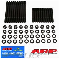 Cylinder Head Stud Kit, 7/16 in Studs, Hex Nuts 6 POINT, FORD WINDSOR SBF 302W Chromoly, Black Oxide, Small Block Ford, Kit