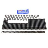CHEV SBC Cylinder Head Stud Kit, MULTI 12 POINT Chromoly, Black Oxide, Small Block Chevy, Kit